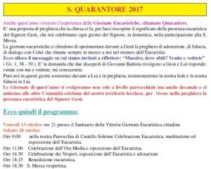 Programma S.Quarantore 2017